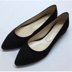 Sivri Burunlu Siyah Babet Ayakkabı