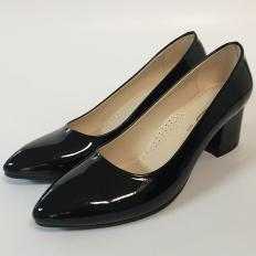 Siyah Rugan Bayan Ayakkabı