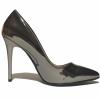 Krom Rugan Stiletto Ayakkabı 4001
