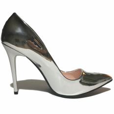 Silver Rugan Stiletto Ayakkabı 4001