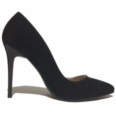 Siyah Süet Stiletto Ayakkabı 4001