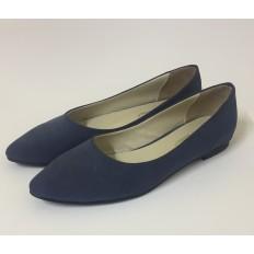 Lacivert Büyük Numara Bayan Babet Ayakkabı 8364