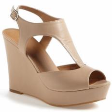 Vizon Dolgu Topuk Bayan Sandalet Ayakkabı 8049