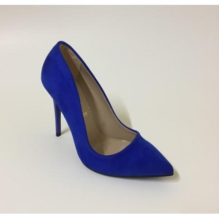 Mavi Süet Stiletto Ayakkabı 4001