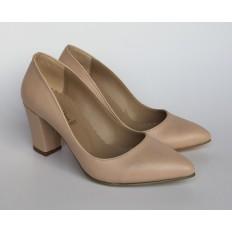 Bej Rengi Bayan Stiletto Ayakkabı 4007