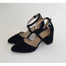 Siyah Süet Sandalet Ayakkabı 4041