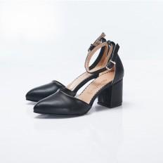 Bilekten Bağlı Siyah Bayan Ayakkabı