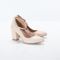 Bilekten Bağlı Bej Bayan Ayakkabı 4006