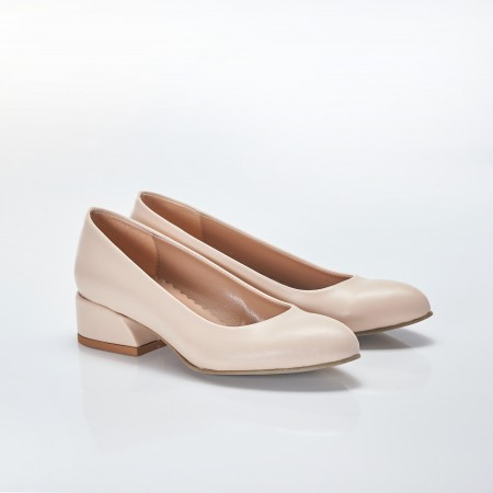 Açık Ten Rengi Bayan Babet Ayakkabı 4040