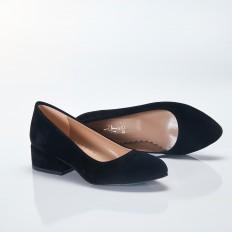 Siyah Süet Sivri Burun Babet Ayakkabı 4040