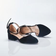 Siyah Süet Sandalet Babet Ayakkabı 4042