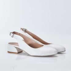 Beyaz Bayan Babet Ayakkabı 5053