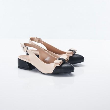 Bej Rengi Sandalet Babet 5054