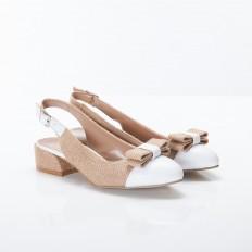Beyaz Bayan Babet Ayakkabı 5054