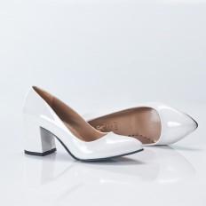 Beyaz Rugan Stiletto 9915