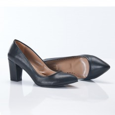 Kalın Topuklu Siyah Stiletto 4007