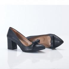 Fiyonklu Siyah Stiletto 9916
