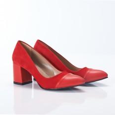 Kırmızı Süet Stiletto 9917