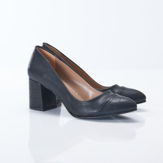 Siyah Krokodil Stiletto 9917
