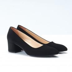 Siyah Süet Bayan Ayakkabı 704