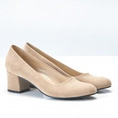 Ten Rengi Topuklu Klasik Bayan Ayakkabı 710
