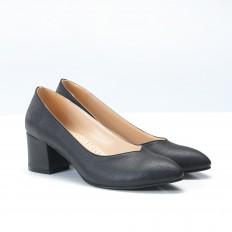 Kalın Topuklu Siyah Bayan Ayakkabı 700