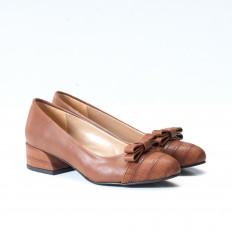 Fiyonklu Taba Babet Ayakkabı 4545