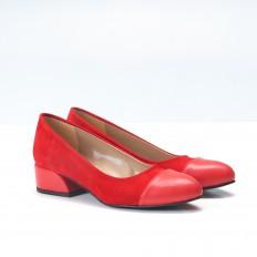 Kırmızı Süet Babet Ayakkab 4046