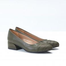 Haki Renk Bayan Babet Ayakkabı 4046
