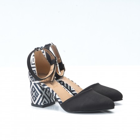 Siyah Süet Sandalet 4010