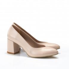 Kalın Topuk Ten Stiletto Ayakkabı 9920