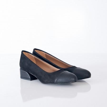Siyah Süet Babet Ayakkabı 4046