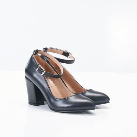 Bilekten Bağlı Siyah Bayan Ayakkabı 4006