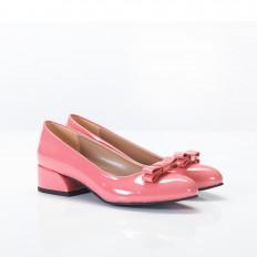 Fiyonklu Mercan Rugan Bayan Babet Ayakkabı 4048