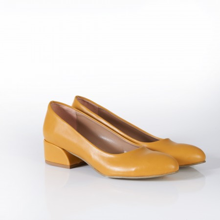 Sarı Bayan Babet Ayakkabı 4040