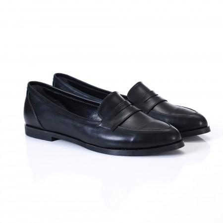 Siyah Bayan Babet Ayakkabı 9092