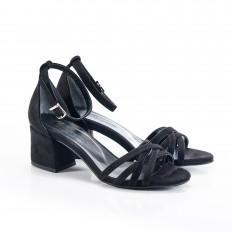 Bilekten Bağlı Siyah Süet Sandalet 5051