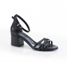 Bilekten Bağlı Siyah Sandalet 5051
