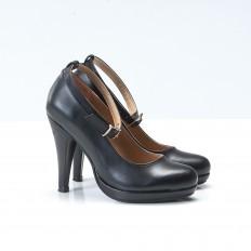 Bilekten Bağlamalı Siyah Bayan Platform Ayakkabı 417600