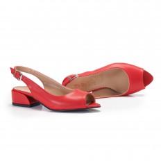 Kırmızı Bayan Babet Ayakkabı 4052