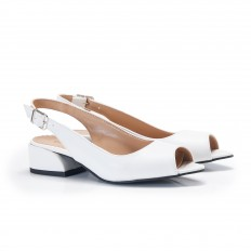 Beyaz Bayan Babet Ayakkabı 4052