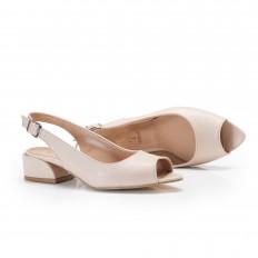 Bej Rengi Bayan Babet Ayakkabı 4052