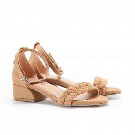 Taba Örgülü Kadın Sandalet 5062