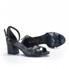 Topuklu  Siyah Kadın Sandalet 6059