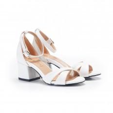 Topuklu Beyaz Kadın Sandalet 6059
