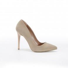 Bej Süet Stiletto Ayakkabı 4001