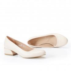 Yuvarlak Burunlu Ten Rengi Kadın  Ayakkabı 7070
