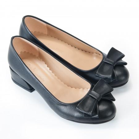 Fiyonklu Siyah Kadın Babet Ayakkabı 7049