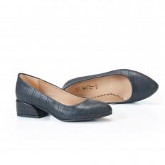 Siyah Krokodil  Bayan Babet Ayakkabı 4040