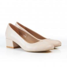 Yuvarlak Burunlu Ten Rengi Kadın Ayakkabı 7080